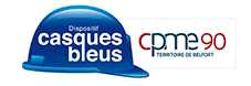 Casques bleus – CPME90 Logo